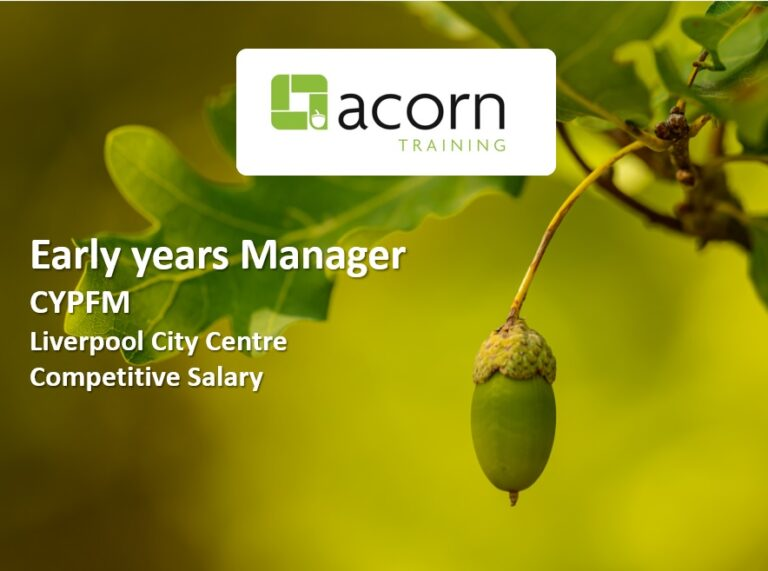 Early Years Manager Liverpool