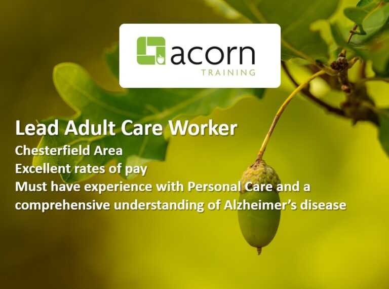 Lead Adult care worker Chesterfield